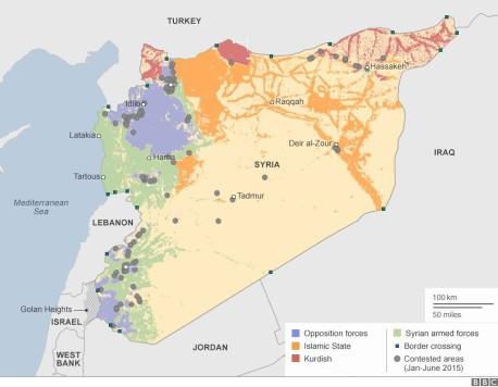 SYRIA MAP ENGLISH